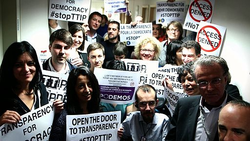 Open the Door to Transparency- -StopTTIP - 15543248792