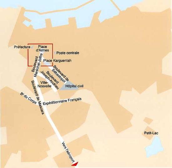 plan très sommaire d'Oran