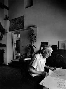 Oskar Kokoschka (1963) by Erling Mandelmann