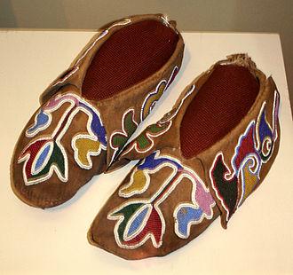 Otoe-Missouria Tribe of Indians - Image: Otoe mo moccasins 1880 OHS