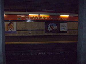 Ottaviano – San Pietro – Musei Vaticani (Rome Metro) - Image: Ottaviano metro roma