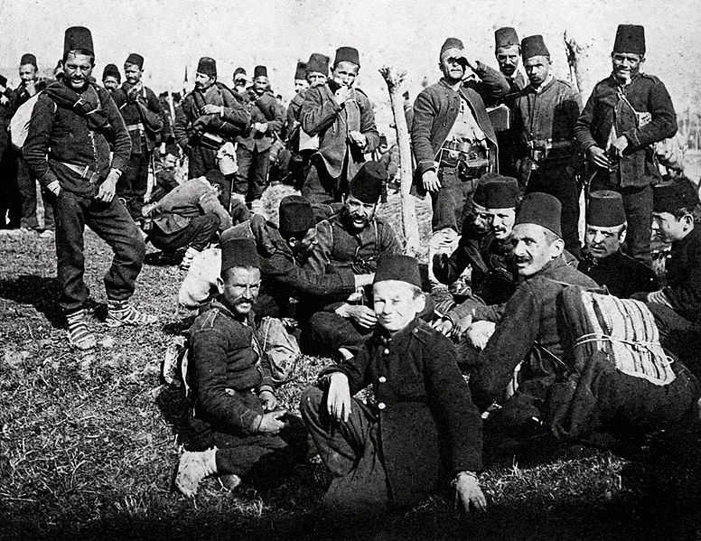 File:Ottoman militia and redif troops at rest.jpg
