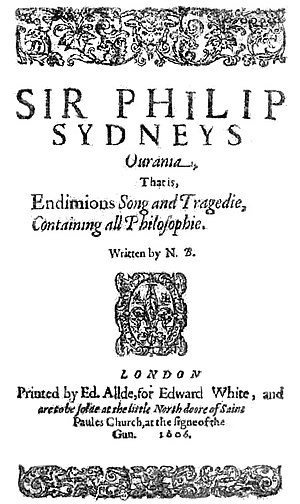Nathaniel Baxter - Title page of Baxter's Ourania (1606).
