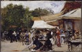 Outside a Restaurant in the Bois de Boulogne. Study (Hugo Birger) - Nationalmuseum - 21284.tif