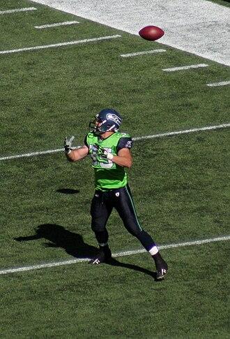 Owen Schmitt - Schmitt with the Seattle Seahawks in September 2009.
