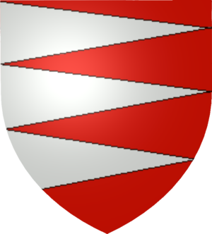 Báthory family - A simplified version of the Báthory coat of arms, based on those of Stephen Báthory, King of Poland and Grand Duke of Lithuania (reigned 1576-1586)