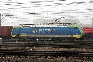 PKP Cargo - PKP Cargo locomotive hauling containers in Venlo, Netherlands