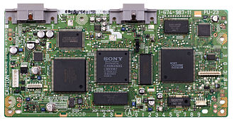 PlayStation technical specifications - An SCPH-9001 motherboard