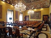 La sala del consiglio metropolitano di palazzo Doria-Spinola