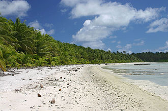 Timeline of United States discoveries - Palmyra Atoll's North Beach.