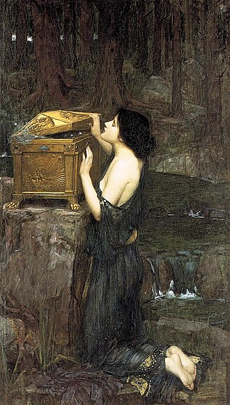 Pandora - John William Waterhouse: Pandora, 1896