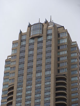 Park Tower (Chicago) - Park Tower rooftop with Art Deco architecture details