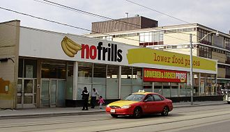 No Frills (grocery store) - A No Frills store in the Parkdale neighbourhood of Toronto