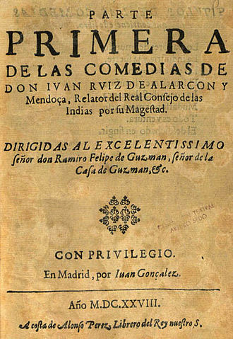 Juan Ruiz de Alarcón - First Part of the Comedies of Don Juan Ruiz de Alarcón, 1628