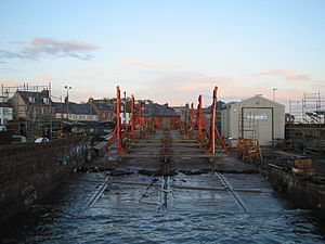Patent slip - Patent slip at Arbroath Harbour