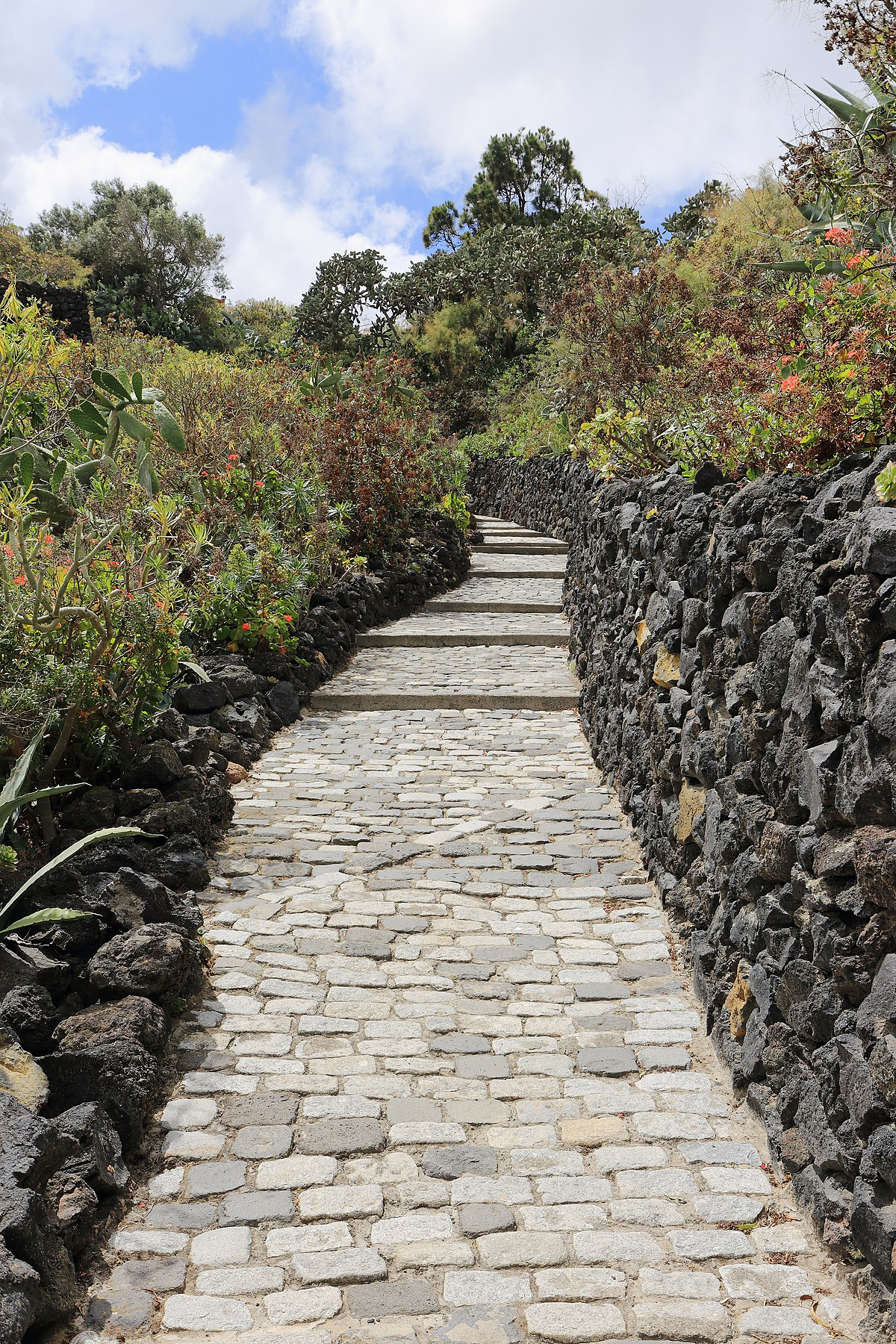 Path leading from Bandama Caldera, Gran Canaria, May 2018.jpg