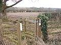 Path meets bridleway (1) - geograph.org.uk - 1713839.jpg