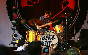 Patrick Carney - Carney playing with The Black Keys in 2010
