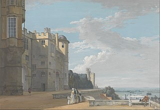 The North Terrace, Windsor Castle, Looking West