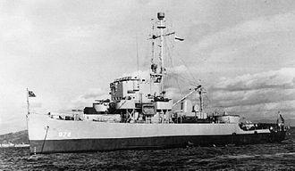 Patrol boat - PCE-872, a World War II patrol craft escort of the US Navy
