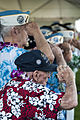 Pearl Harbor survivors salute during a Pearl Harbor 71st anniversary commemoration at the World War II Valor in the Pacific National Monument in Pearl Harbor, Hawaii 121207-N-XD424-066.jpg