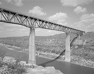 Pecos River - Pecos River High Bridge, near Langtry, Val Verde County, Texas