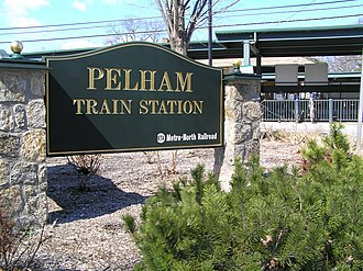 Pelham, New York - Image: Pelham Train Station April 2011