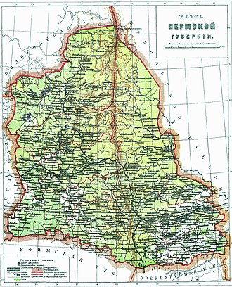 Perm Governorate - Map of the governorate