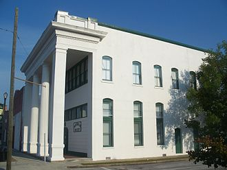 Taylor County Historical Society - Side view of the Bank of Perry building