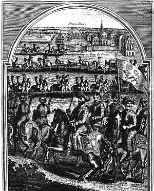 Persian embassy to Louis XIV - Entry of Mohammad Reza Beg in Versailles.