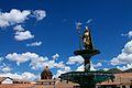 Peru - Cusco 010 - Plaza de Armas statue (6938670014).jpg