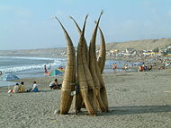 Peru Huanchaco Typical Fisherman reed boats.jpg