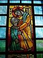 Pestkapelle Stiefenhofen, Glasbild links oben, Heilung des Leprakranken.jpg