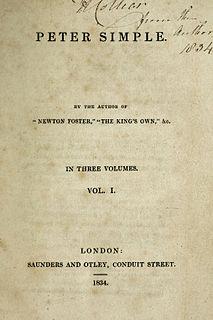 <i>Peter Simple</i> (novel) book by Frederick Marryat