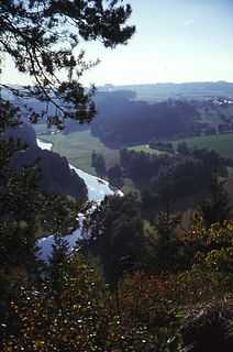Saale river in Germany