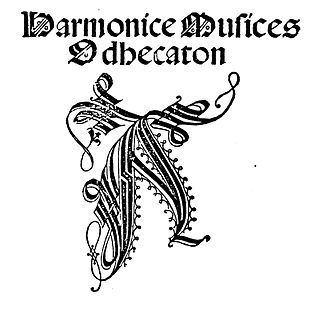 Harmonice Musices Odhecaton - Frontispiece to the Odhecaton.