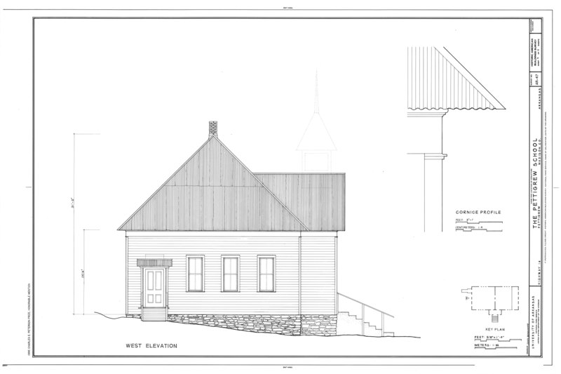 File:Pettigrew School, Across White River from Highway 16, Pettigrew, Madison County, AR HABS ARK,44-PETIG,1- (sheet 4 of 11).tif