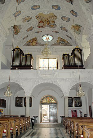 Styriarte - Organ loft of the Pfarrkirche in Stainz, one of the venues of the festival