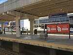 Philadelphia International Airport Terminal A SEPTA station island platform April 2018.jpg