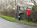 Phone box and post box in Sutton - geograph.org.uk - 1640481.jpg