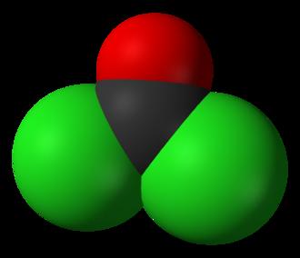 Phosgene - Image: Phosgene 3D vd W