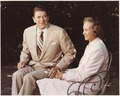 Photograph of President Reagan and His Supreme Court Justice Nominee Sandra Day O'Connor at the White House - NARA - 198517.tif