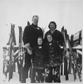 "Photograph of Representative Gerald R. Ford and Mrs. Betty Ford Skiing with Sons John ""Jack"" Ford and Michael ""Mike""... - NARA - 186869.tif"