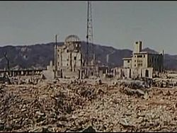Berkas:Physical damage, blast effect, Hiroshima, 1946-03-13 ~ 1946-04-08, 342-USAF-11071.ogv