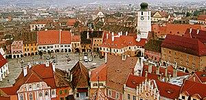 Piata Mica in Sibiu, Romania