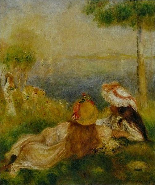 File:Pierre-Auguste Renoir - Jeunes Filles au bord de la mer.jpg