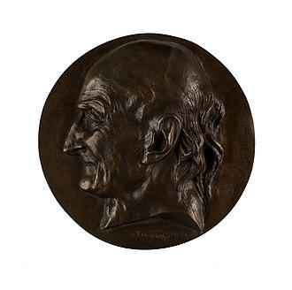 Antoine Laurent de Jussieu - Medallion of Jussieu by David d'Angers