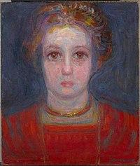 Piet Mondriaan - Portrait of a girl in red - 0334287 - Kunstmuseum Den Haag.jpg
