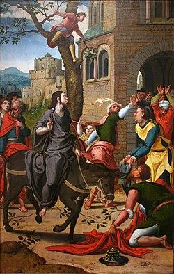 Pieter Coecke van Aelst - Intocht in Jeruzalem.jpg