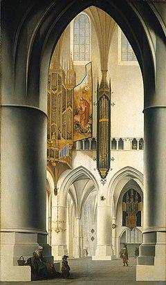 pieter jansz saenredam interieur van de grote of sint bavokerk te haarlem jpg